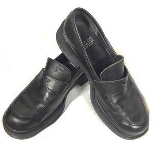Black Leather Loafers Size 9.5M Cloud 9 Nine West